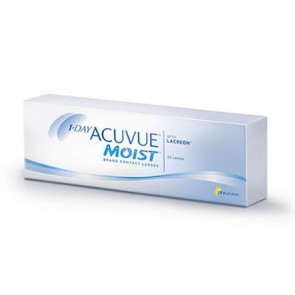1-DAY ACUVUE® MOIST®: 1-Tageslinsen, sphärisch, 30er Box von Johnson&Johnson