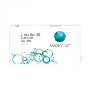 Biomedics® 55 Evolution asphere BC 8,6 / 8,9: Monatslinsen, torisch, 6er Box von CooperVision