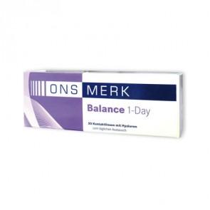 ONS MERK Balance 1-Day: 1-Tageslinsen, sphärisch, 30er Box von Bach Optic