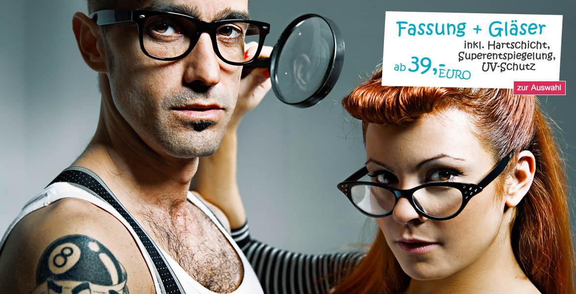Brillen, Brillengläser, Kontaktlinsen günstig kaufen - Brillenmonster